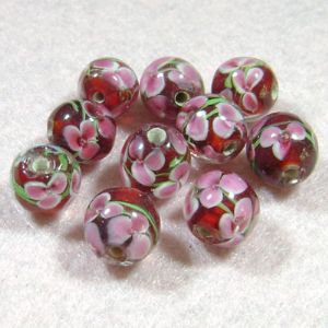 Venetian glass beads, Spherical, 12mm, 1 Piece, (LLZ001)